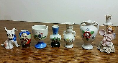 Vintage Made in Occupied Japan Miniature Figurines Vase Total Lot of 7