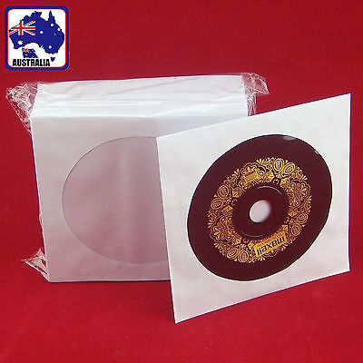 90x 300x 500x CD Disc DVD Envelope Cases Paper Bag Sleeves Clear Window EDISC 11