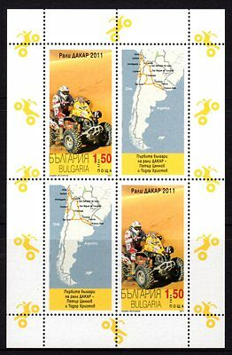 Bulgaria 2011 Dakar Car Rally M/S Mint Never Hinged