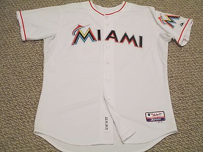 2014 Miami Marlins Game Jersey Issued White SZ 48 Kyle Skipworth #53