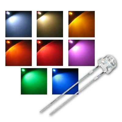 Strawhead LEDs 4,8mm, 4.8mm various colors, Flathead LED Leuchtdioden Diodes LED