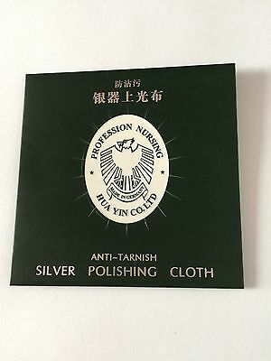 2 pieces - Silver Polishing Cleaning Cloth Jewellery 82 x 82 mm - Aussie Stock
