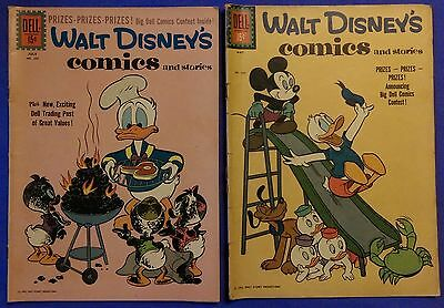Lot of 2 Vintage Walt Disney Comics and Stories Dell Comic Books - 1961