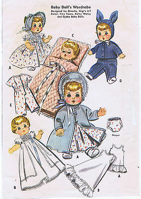 "2183 Vintage Baby Doll Pattern - Size 11-12"" - Year 1957"