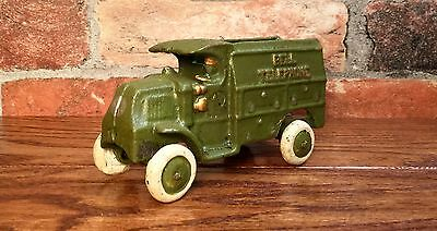 Cast Iron Hubley Bell Telephone Vintage Truck Toy