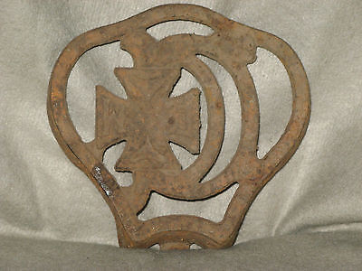 ANTIQUE 1905 CAST IRON GERMAN STOVE? PARTS w/IRON CROSS, 2 AVAILABLE, NICE!