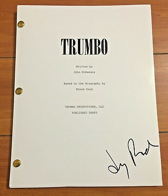 JAY ROACH SIGNED TRUMBO MOVIE SCRIPT SCREENPLAY (124 PAGES) w/PROOF