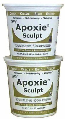 Aves - Apoxie Sculpt 'Natural' (4 Lb.) Self-hardening Epoxy clay, 2 part product
