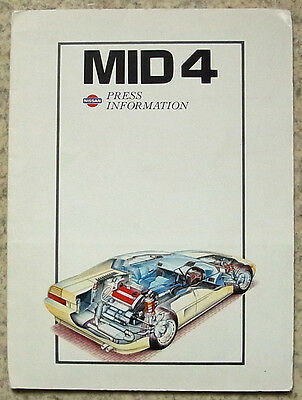 NISSAN MID 4 Car Press Information Pack Photos Sept 1985