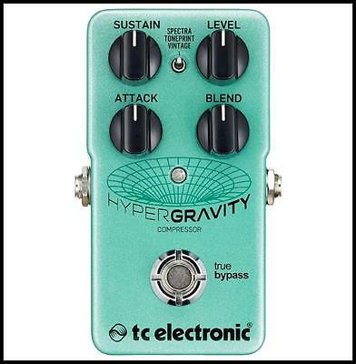 TC Electronic HyperGravity Compressor Guitar Effect Pedal True Bypass