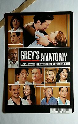 GREY'S ANATOMY SEASON 5 MORE MOMENTS COVER MINI POSTER BACKER CARD (NOT A movie)
