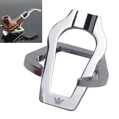 Stainless Steel Portable Foldable Smoking Cigar Tobacco Pipe Stand Rack Holder