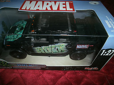 Maisto Marvel The Incredible Hulk Hummer H2 Sut Concept  1:27 Scale