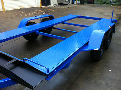 Brand New Tandem Car Trailer 12X6.6Ft 2T Atm Use4 Race Ford Holden Turbo Quads