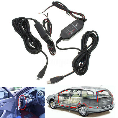 12V to 5V Step Down Hard Wire Power Adapter Cable Cord Jack For Car DVR Camera