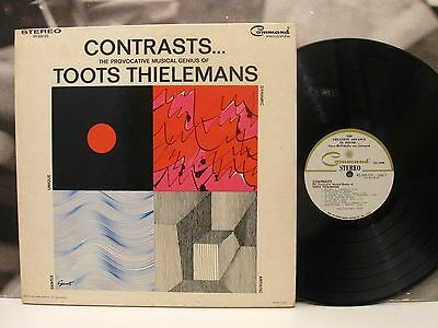 TOOTS THIELEMANS - CONTRASTS LP EX/VG+ 1st USA PRESSING 1966 COMMAND RS 906 SD