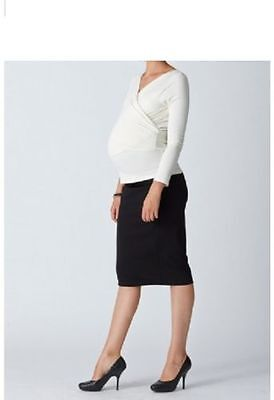 Maternity  Delux  Stretch Skirt 8-16 Nwt Made In Australia