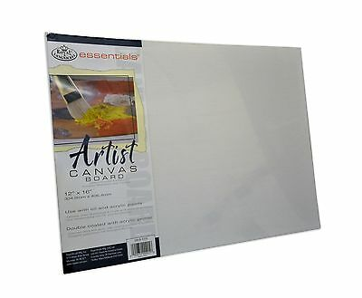 "Royal & Langnickel Primed Artist Canvas Boards Oil & Acrylic 10 x 12 "" PACK OF 5"