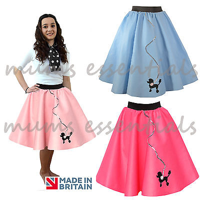 Ladies 50s Poodle Skirt, Felt,Rock and Roll GREASE HAIRSPRAY costume Fancy Dress