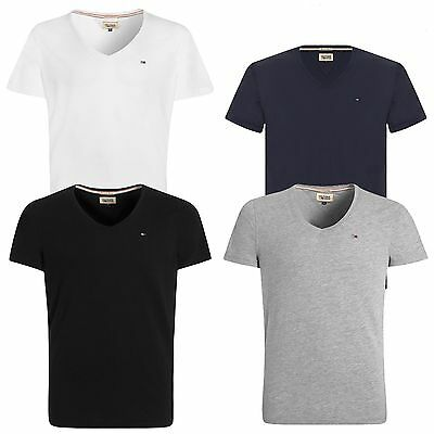 d3f9b80cc TOMMY HILFIGER DENIM Panson V-Neck T-Shirt Black Navy White Grey Various  Sizes - EUR 23,15 | PicClick IT