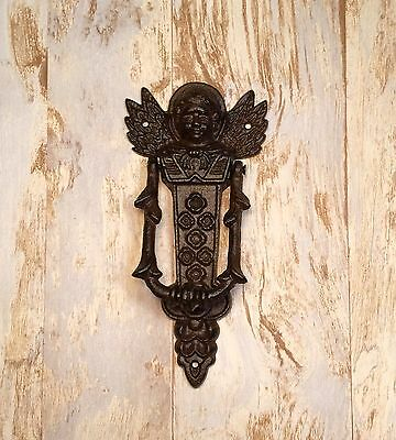 Cast Iron Heavenly Cherub Vintage Door Knocker