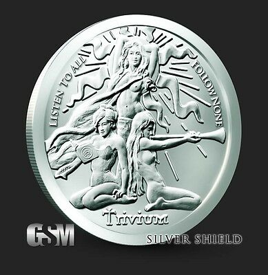 1 Troy Ounce 2017 TRIVIUM Girl Silver Shield Round .999 Pure AG BU Trivium NEW