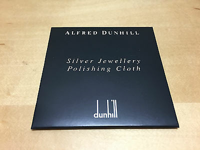 New - ALFRED DUNHILL Silver Jewellery Polishing Cloth - Gamuza Limpieza Plata