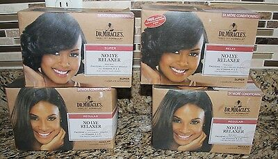 Relaxer No-Lye Dr. Miracle's 2 Complete Applications Choose Regular Super Condit