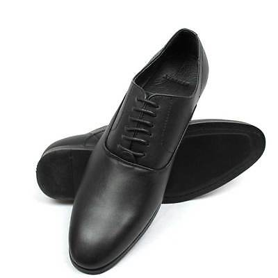 New Mens Dress Solid Black Round Toe Lace Up Oxford Semi Pointed By AZAR MAN