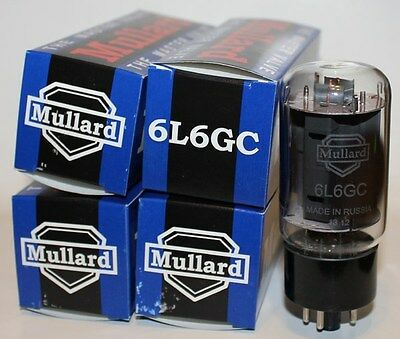 Matched Quad (4 tubes) Mullard 6L6GC Reissue tubes, NEW !
