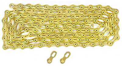 KMC X9SL Mountain Road Bike Chain Ti & Gold for Shimano Sram 9 Speed
