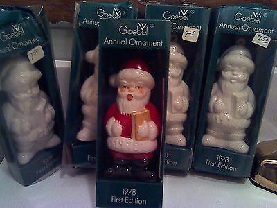 Vintage Goebel 1978 First Edition Set of 5 Santas New in Box