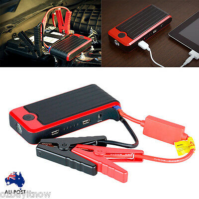 12000mAh Portable Car Vehicle Jump Starter Power Bank Phone Charger 12V 400A T6