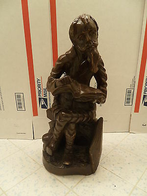 "Vintage wooden hand carved figure Don Quijote Quixote 16 "" Tall solid wood"