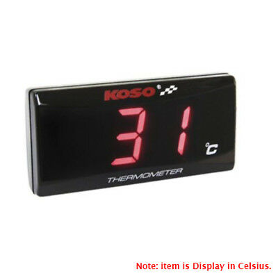KOSO Slimline Oil/Water Thermometer LED Display Temperature Gauge Red Light M10