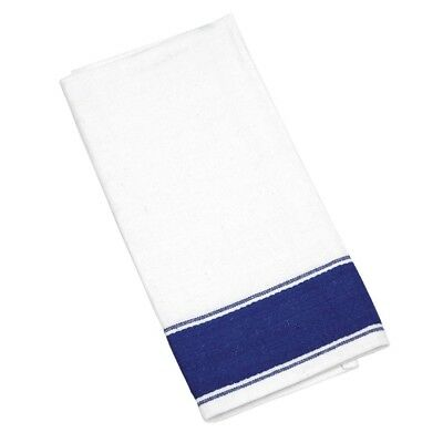 10x Olympia Gastro Napkins 500x350mm Cotton Tableware Serviettes Blue Border