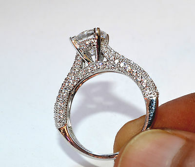 2.40 Ct Round Solitaire Bridal Diamond Engagement Ring 14k Solid White Gold