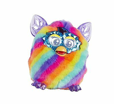 Furby Boom Crystal Series Rainbow Electronic Talking Pet Ages 6+ Hasbro Toy Gift