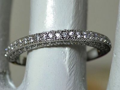 0.80ct Brilliant Anniversary Engagement Wedding Band Solid 14k Solid White Gold