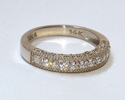 0.81ct Brilliant Anniversary Wedding Band Bridal Pave 14k Solid White Gold