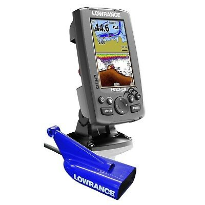Lowrance Hook-4 Chirp Fishfinder/Chartplotter with Mid/High/Downscan Transducer