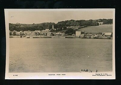Cornwall PADSTOW from Rock Used 1952 RP PPC by George Ellis