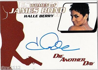 James Bond 2014 Archives Wa49 Halle Berry Jinx Autograph Extremely Limited
