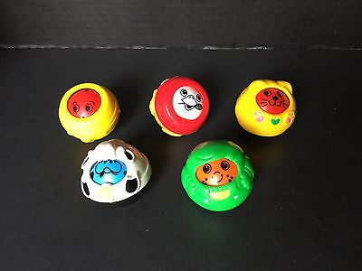 Fisher-Price ROLL-A-ROUND BALLS Vintage 1994-1999 LOT OF 5
