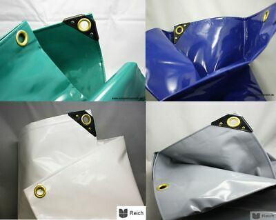4,80 M ² PVC Truck Tarp Cover 1.4lbs/M Sizes Color Green Blue White Grey