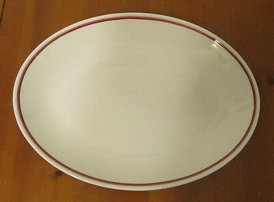 Homer Laughlin Small Platter Red Maroon Trim Best China USA UC-1
