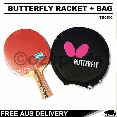 Butterfly TBC502 Table Tennis Racket Long Handle Paddle + Bag Package Free Post