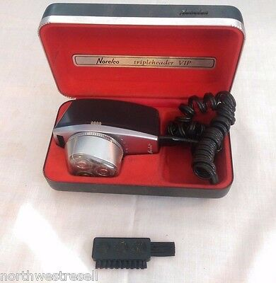 Vintage Norelco Tripleheader VIP Beard and Mustache Trimmer Rechargeable