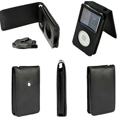 Black Flip Case Cover Pouch Skin Protect for Apple iPod Classic 80GB 120GB 160GB