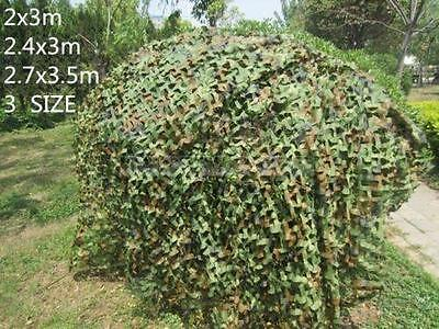 Shooting Hide Army Camouflage Net Hunting Camo Netting Woodland shelter Truck UK